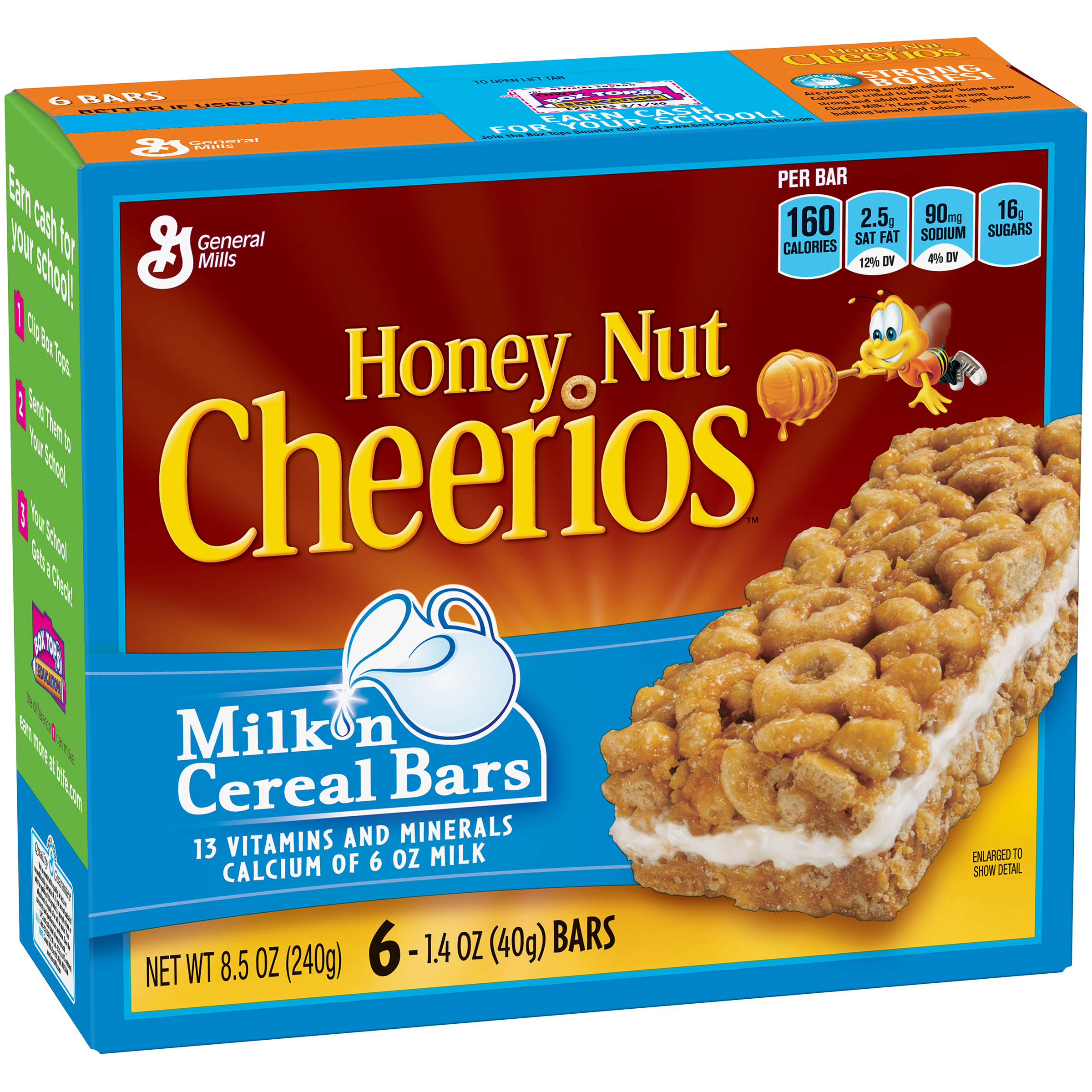 Honey Nut Cheerios��� Milk 'n Cereal Bars 6 ct Box