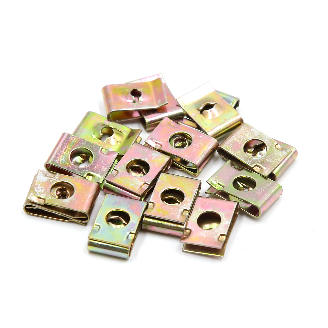 20Pcs Bronze Tone Metal Bolts U-Type Speed Fastener Clips for Motorcycle