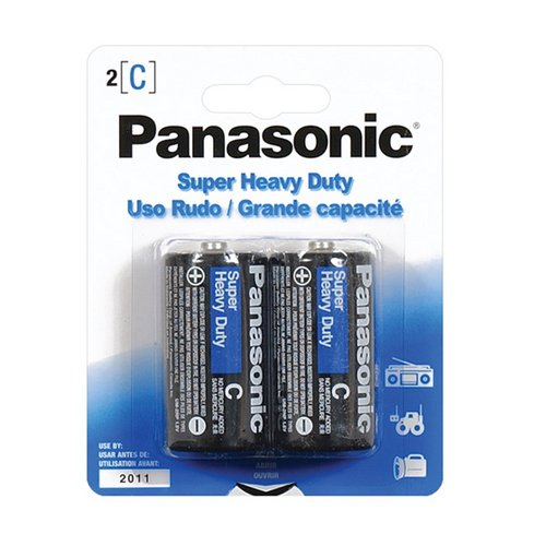 Panasonic Battery C Pack, 2 Count