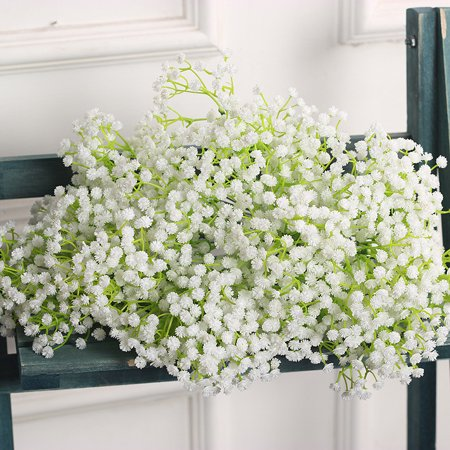 Outgeek 9 Pieces Artificial Baby Breath Gypsophila Flowers Fake Plants Bouquet For Home Living Room