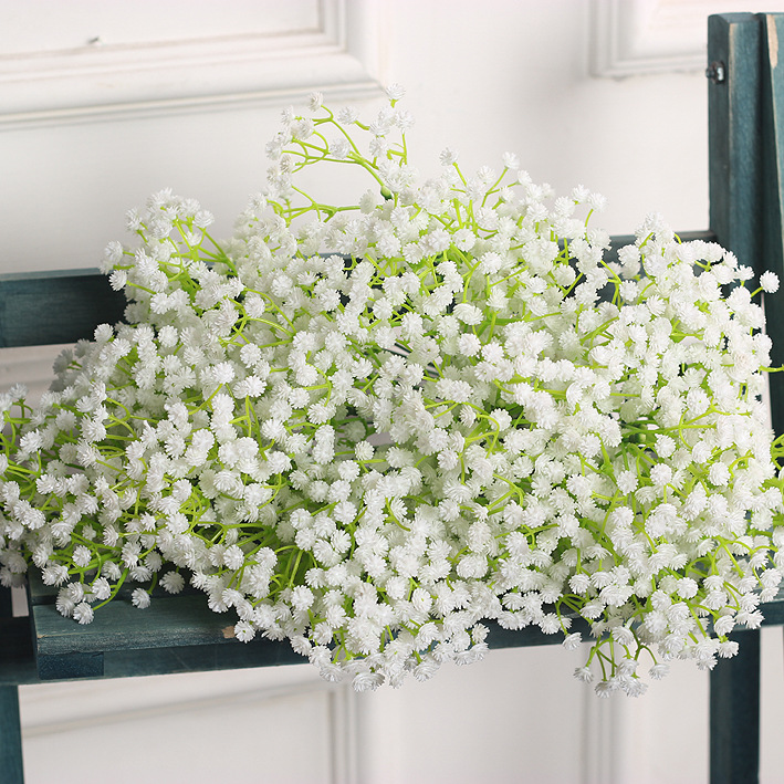 Outgeek 9 Pieces Artificial Baby Breath Gypsophila Flowers Fake Plants Romantic Bouquet for Home Living Room Bedroom Garden Wedding Party Decor