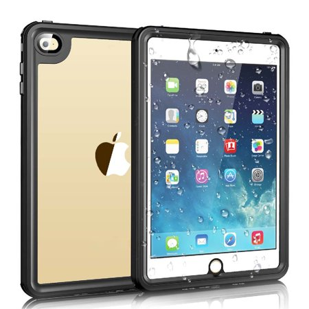 Cribun iPad Mini 4 Waterproof Case,IP68 Waterproof iPad Mini 4 Waterproof Case with Adjustable Tablet Stand Built-in Screen Protector - image 1 of 7