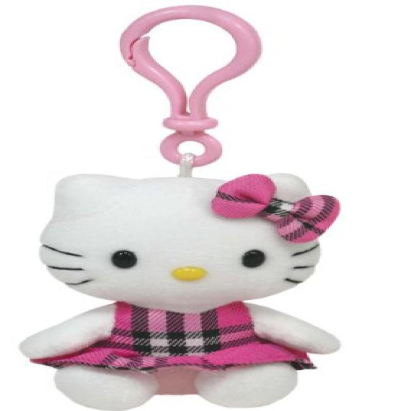 Ty Hello Kitty Pink Tartan Clip by