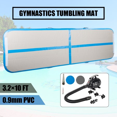 10ft Inflatable Air track Mat Inflatable Gymnastics Tumbling Training Board with Electric Pump