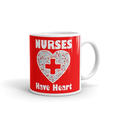 Nurses Have Heart Graduation Coffee Tea Ceramic Mug Office Work Cup Gift](Religious Graduation Gifts)