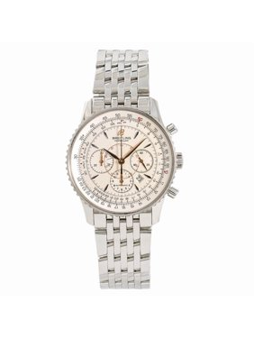 Pre-Owned Breitling Montbrillant A41370 Steel  Watch (Certified Authentic & Warranty)