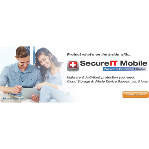 SecurityCoverage Inc. SecureIT Mobile, Personal (iOS, Android) (Digital Code)