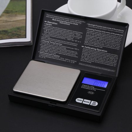 Digital Weight Pocket Gram Scale 100g/0.01g Precision Kitchen Nutrition Jewelry Scale Multifuction Tare Function ()
