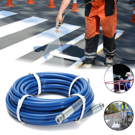 15m 1/4'' High Pressure Airless Paint Spray Hose Sprayer Tube Building & Hardware 3300PSI Cleaning Painting