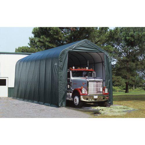 ShelterLogic 14' x 36' x 16' Peak Style Shelter, Green