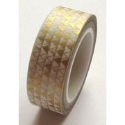 Love My Tapes Washi Tape 15mmX10m-Metallic Gold Triangles