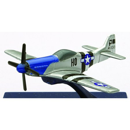 Die-Cast WWII Fighter Plane, P-51D Mustang 1:160 Scale