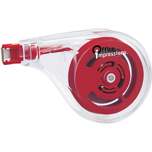 "Office Impressions Sideways Application Correction Tape, 1/5"" x 393"", 6-Pack"