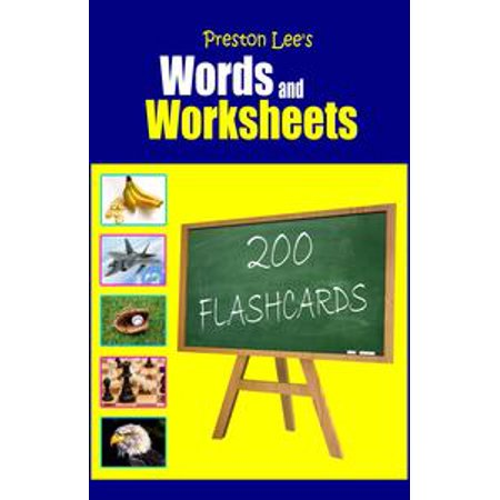 Halloween Making Words Worksheets (Preston Lee's Words and Worksheets: 200 FLASHCARDS -)