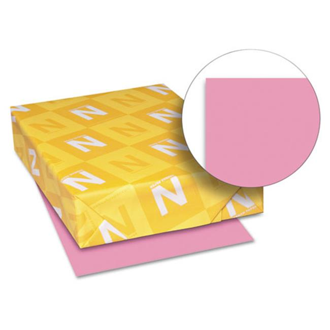 Wausau Papers 21031 8. 5 x 11, Astrobrights Colored Paper, 500 Sheet - Pulsar Pink