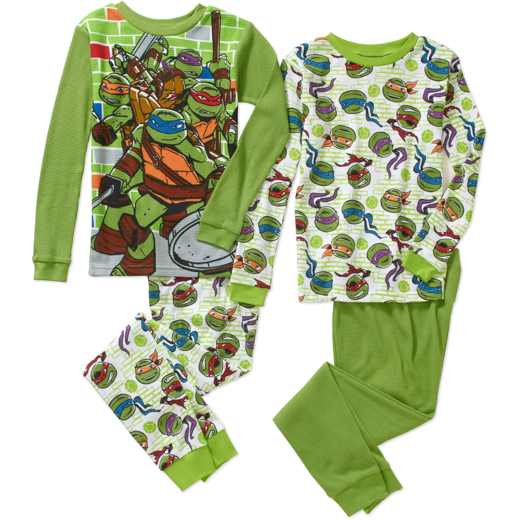 Boys' Licensed 4 Piece Cotton Thermal Set, Available in 4 Characters