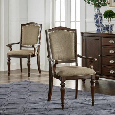 Weston Home Nailhead Arm Chair, Dark Cherry