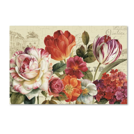 Trademark Fine Art 'Garden View I without Border' Canvas Art by Lisa Audit