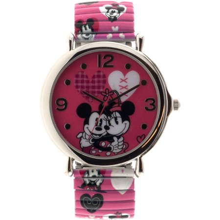 Minnie Women's Analog Watch, Pink Print Strap