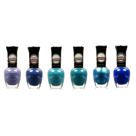 LWS LA Wholesale Store  KLEANCOLOR SCENTED 6 NAIL POLISH blue green purple mint shine 23