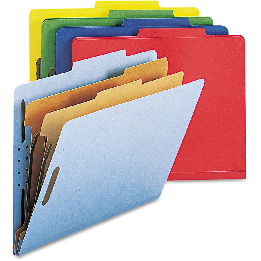 Smead Pressboard Classification Folders, 6-Section, 10/Box
