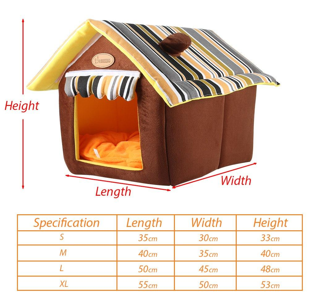 Comfy Dog House Bed| (Foldable) + FREE Car Seat Belt - image 2 de 6