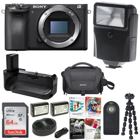 Sony a6500 4K Mirrorless Digital Camera Body with 64GB Card and Battery