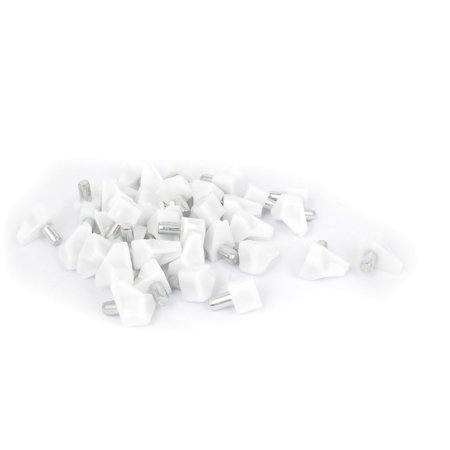 Unique Bargains Cabinet Cupboard 5mm Push in Shelf Support Holder Pins Plastic Pegs Studs 40pcs