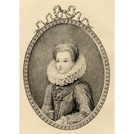 Gabrielle Destrees Duchess Of Beaufort (1573-I599) Mistress Of Henry Iv Etching By Mercier From The Book  Lady Jackson'S Works Ix The First Of The Bourbons I- Published London 1899 Canvas Art - Ken We - Mistress Metal