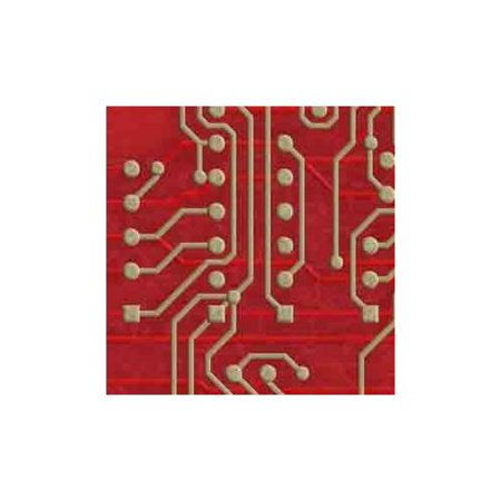 ArtScape Red Circuit Board Pool Table Cloth (7 ft.)