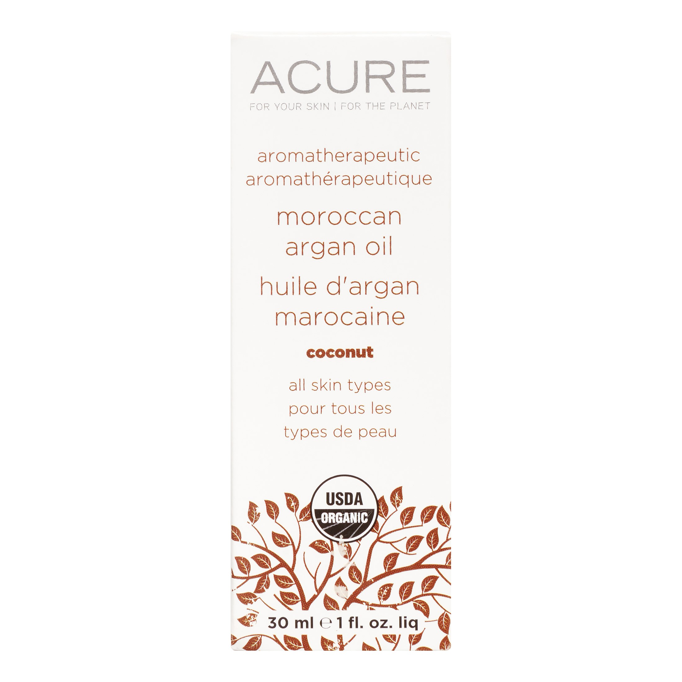 Image of Acure Aromatherapeutic Argan Oil, Coconut, 1 Fl Oz