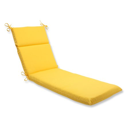 Pillow perfect outdoor indoor fresco yellow chaise lounge for 23 w outdoor cushion for chaise
