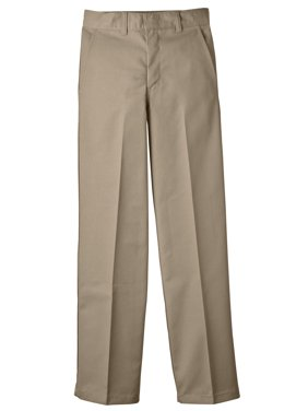 Genuine Dickies Boys 4-20 School Uniform Classic Fit Straight Leg Flat Front Pants