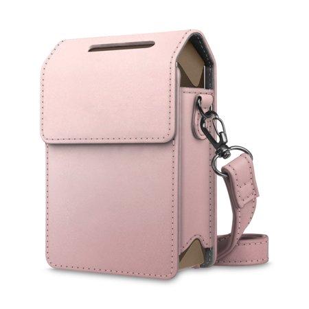 For Fujifilm Instax SHARE SP-2 Smart Phone Printer Leather Case Bag Cover w/ Removable Shoulder Strap, Rose Gold (Phone Printer Case)