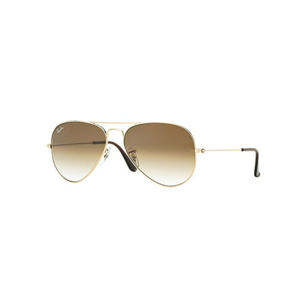 55MM Classic Pilot Sunglasses, (Ray Ban Gold Mirror Aviator)