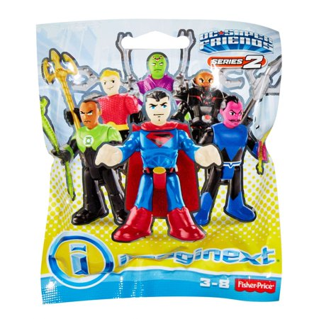 Imaginext DC Super Friends Series-2 Mystery Pack (Styles May (Fisher Price Imaginext Dc Super Friends The Batmobile)