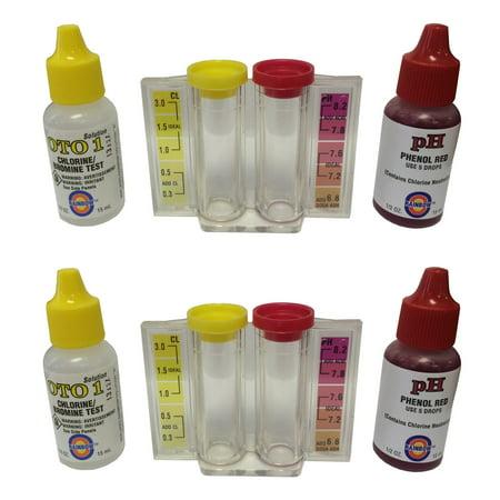 2 New Pentair R151076 Rainbow Ph Amp Chlorine 2 In 1