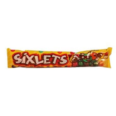 Sweetworks Sixlets Candy Tube, 1.75 Ounce -- 24 cartons. - Black Cat Halloween Candy