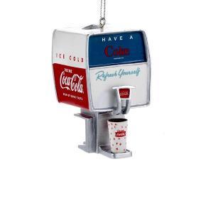 Dispenser Coca Cola Resin Christmas Ornament