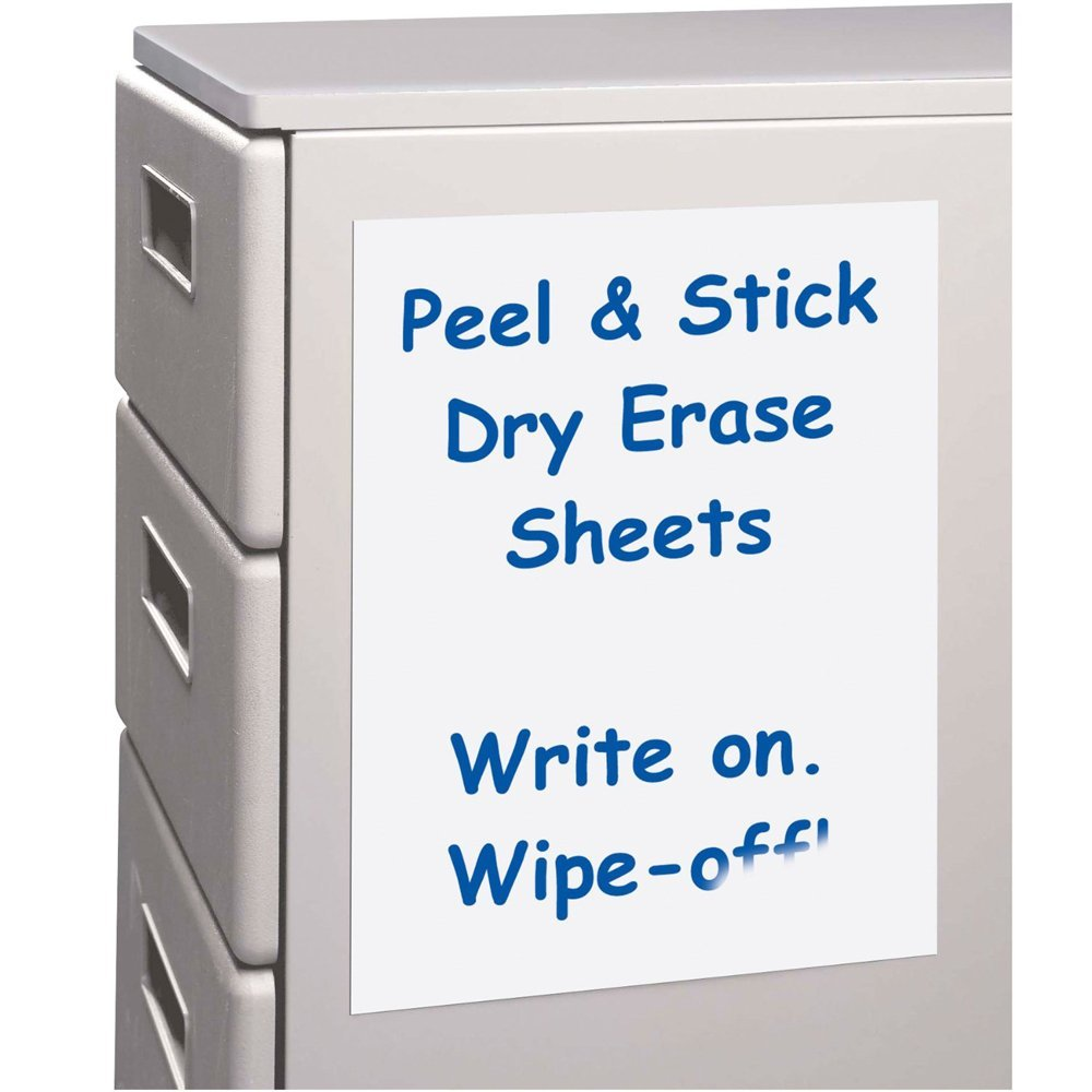 Dry Erase Sheets White Board Removable Vinyl Sticker 10 Pack