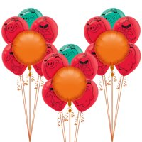 Party City Angry Birds Balloon Kit Includes Foil Balloons, Latex Balloons, and Curling Ribbon