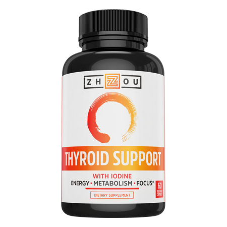Thyroid Support Complex With Iodine   Energy  Metabolism   Focus Formula   Vegetarian  Soy   Gluten Free   Feel Like Your Old Self Again