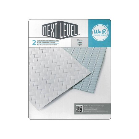 We R Memory Keepers Woven Embossing Folders: 2 Pack