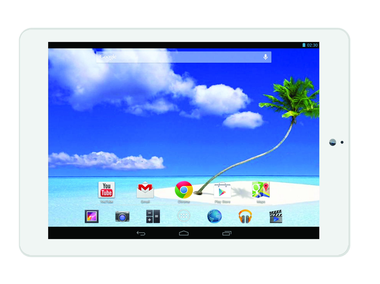 "ProScan PLT7804G 16 GB - 7.9"" - Quad-core 1.50 GHz, White Face"