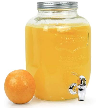 Estilo 1 Gallon Single Glass Beverage Drink Dispenser With Leak Free Spigot, (Single Beverage)