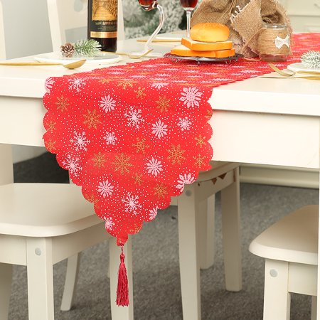 Christmas Decoration Linen Printed Table Flag Tablecloth Tablecloth Placemat ()