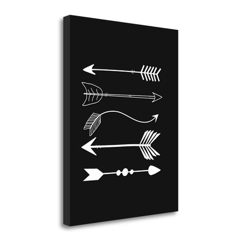 Tangletown Fine Art 'Arrows in Gray and White' Graphic Art Print on Wrapped Canvas