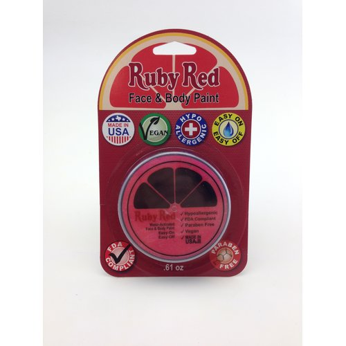 RUBY RED PAINT, INC. Individual Color 18ml/0.61oz Face and Body Paint