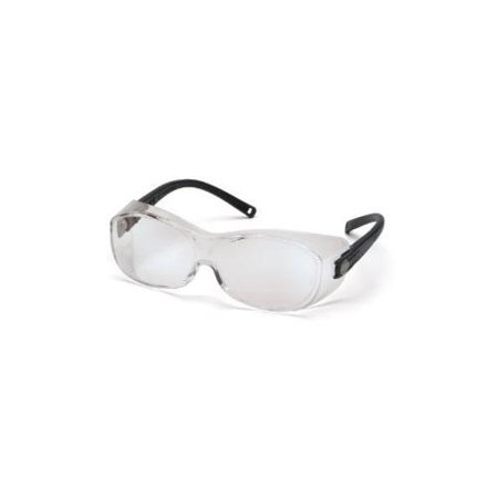 SAFETY GLASSES, BLK/CLEAR LENS
