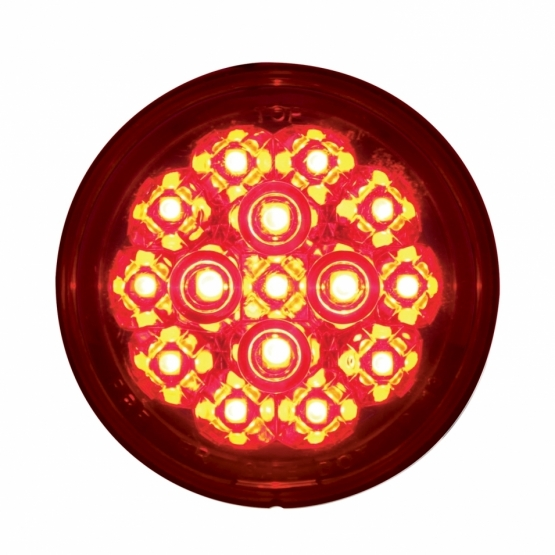 "15 LED 2 3/8"" Harley Turn Signal - Red LED/RedLens"